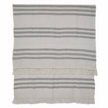 Grey Stripe Blanket From Recycled Bottles