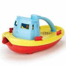 Blue Top Pouring Tug Boat 6mth+ Made From Recycled Plastic