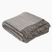 Tabby Grey Herringbone Blanket Made From Recycled Bottles