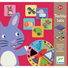 Tactile Loto Game - Animals By Djeco 3+