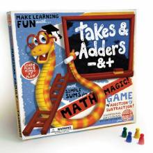 Takes & Adders (Snakes & Ladders) Board Game 5+