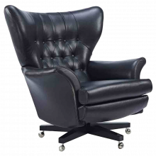 G Plan Vintage The Sixty Two Leather Swivel Armchair