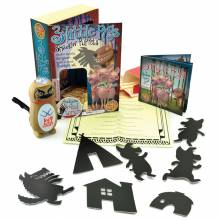 Three Little Pigs Shadow Puppets Set With Torch