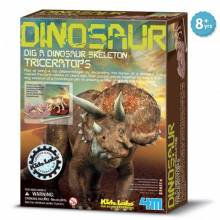 Dig A Triceratops Skeleton Kit - Kidz Labs 8+