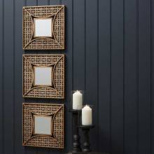 Square Fretwork Mirror Decorative 36cm SINGLE