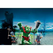 Giant Troll With Dwarf Fighters Playmobil 6004