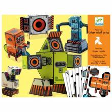 Urban Robots - Paper Modelling Creative Kit By Djeco 7-15yrs.
