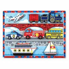 VEHICLES Chunky Peg Puzzle By Melissa & Doug