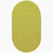 Wasabi Cream Braided Rug Recycled Plastic 61x244cm