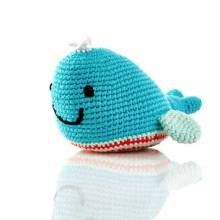 Crochet Knit Whale Baby Rattle 0+yrs