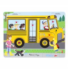 The Wheels On The Bus Sound Puzzle By Melissa & Doug 2+