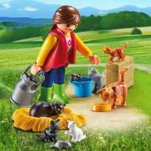 Woman With Cat Family Playmobil 6139