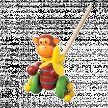 Monkey Push Along Toy 12mth+