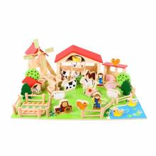 Wooden Traditional Play Farm Set with 49 Pieces