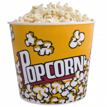 Yellow Popcorn Bucket