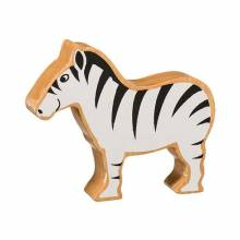 Black & White Zebra Wooden PAINTED Animal Fairtrade Lanka Kade